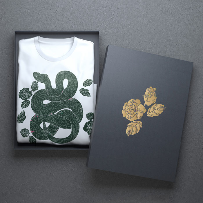 T-shirt, With Graphics in a Box