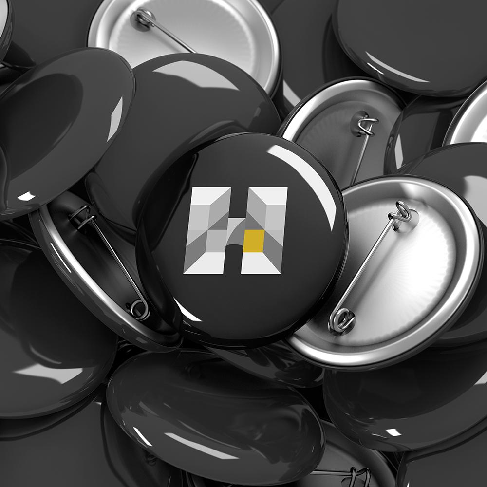 black pins